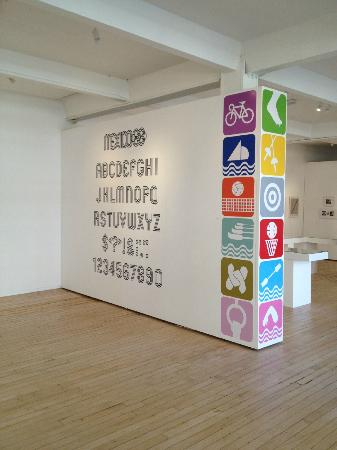Norwich Gallery : Lance Wyman's Mexico '68 alphabet and sports icons in the NUCA Gallery