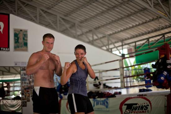 Jun Muay Thai Boxing Camp: who does MMA on their honeymoon!? us, apparently... her idea :)