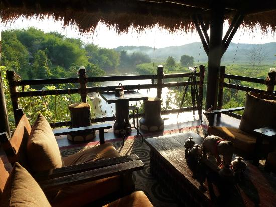 Four Seasons Tented Camp Golden Triangle : Looking into Burma from the Burma Bar