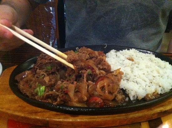 Yokohama Japanese Restaurant: Sukiyaki (Beef brisket. soy sauce, garlic, & more)