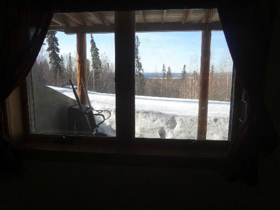 A Moose in the Garden Bed & Breakfast: Se ve el Monte McKinly desde este B&B (monte mas alto de EEUU)