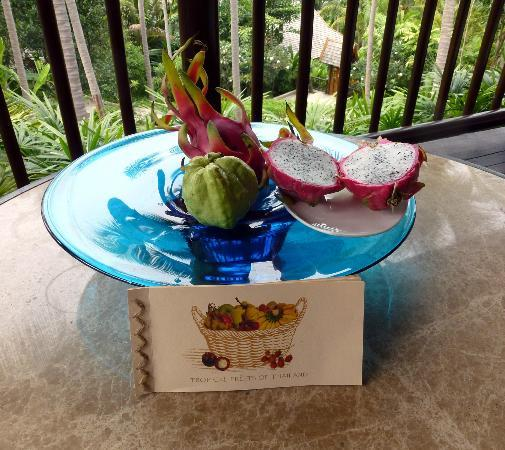 Four Seasons Resort Koh Samui Thailand: Fresh fruit delivered to your villa everyday