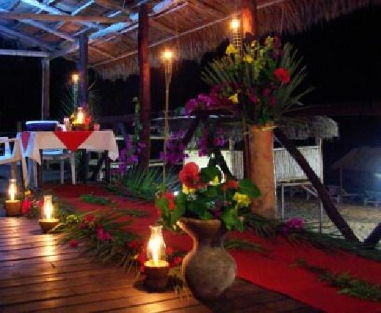 Barra Lodge: Honeymoon Dinner Setting