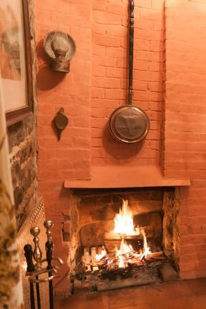 Bowerbank Mill B&B: Nice fire