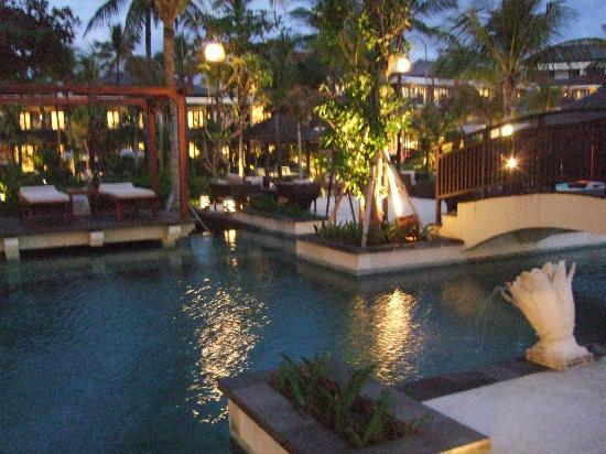 The Seminyak Beach Resort & Spa: Pool side - my photo is a bit blurred