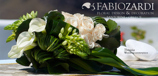 Fabio Zardi Floral Design & Decoration: Thirasia - Wedding centerpiece