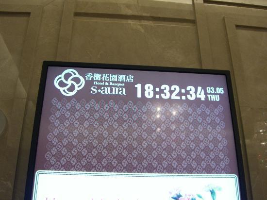 إس أورا هوتل: LCD displays at lift lobby.