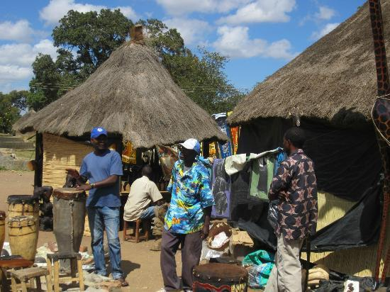 Kabwata Cultural Village: there own houses are like the huts here