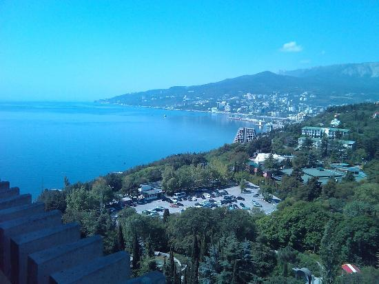 Yalta Intourist Hotel: View from my room on 13th floor