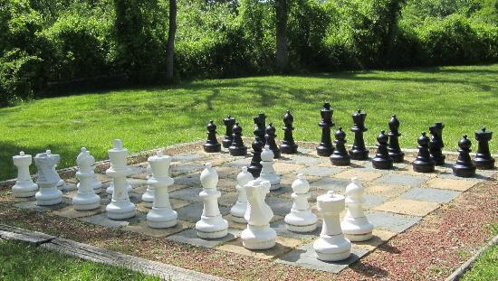 Hillbrook Inn: Outdoor chess -- love it!