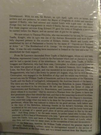 Smarmore Castle: binder in room