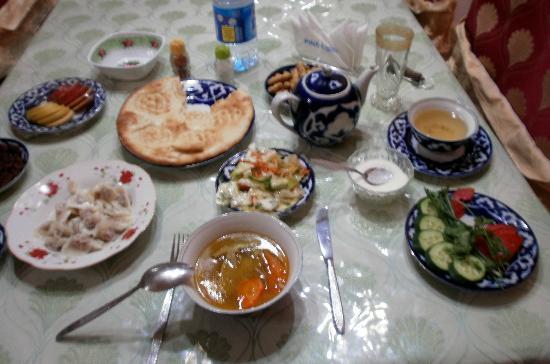 Dinner hotel Arkanchi Khiva