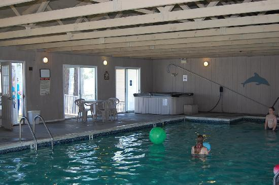 Dove Winds indoor heated pool is fun, fun, fun!!