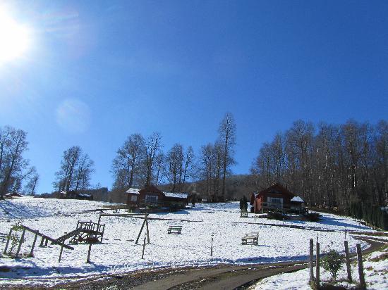 Nieve y Sol en Mirador Los Volcanes