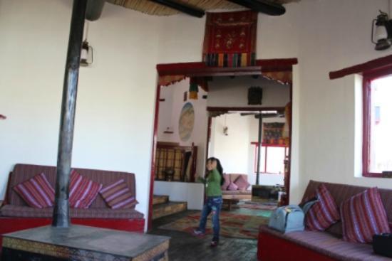 Ladakh Sarai: The common sitting room...