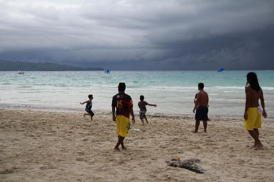 White Beach: Frisbee tryouts.
