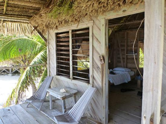 Long Caye Resort: Cabana - rustic but very comfortable
