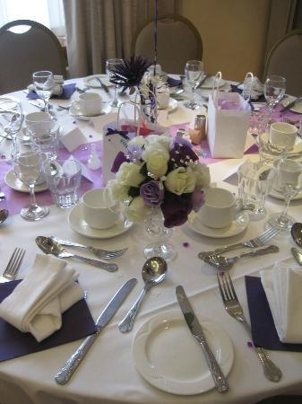 Ramada Hatfield: Our table set up