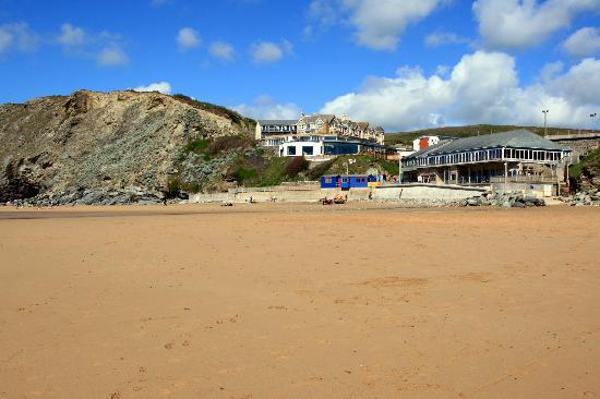 Watergate Bay Hotel: View of hotel and Fifteen