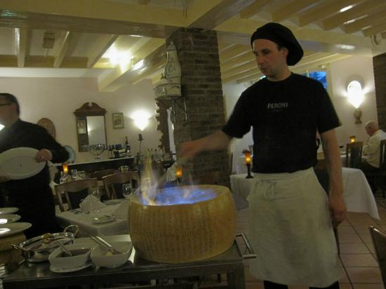 Napoli: Chef added some spirit and set fire to the cheese!