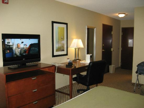 Holiday Inn Express Hotel & Suites Starkville: TV, desk