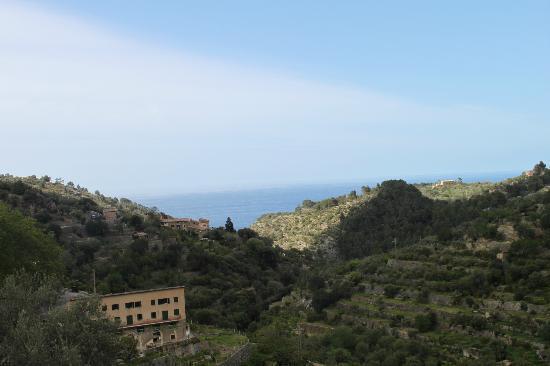 Es Moli Hotel: Blick vom Zimmerbalkon zum Meer
