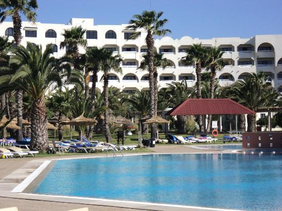 Holiday Village Manar: Main Hotel from pool
