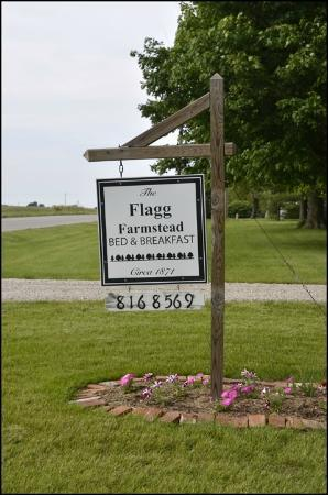 The Flagg Farmstead: Flagg Farmstead sign
