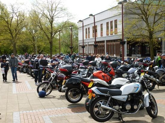 Northwich, UK: 'Thundersprint' annual event for classic and exotic motorcycles