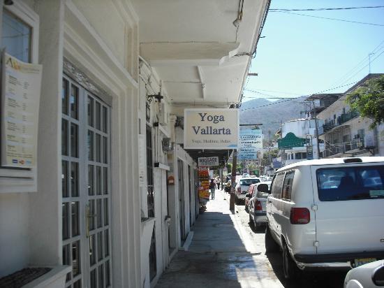 Sidewalk view of Yoga Vallarta