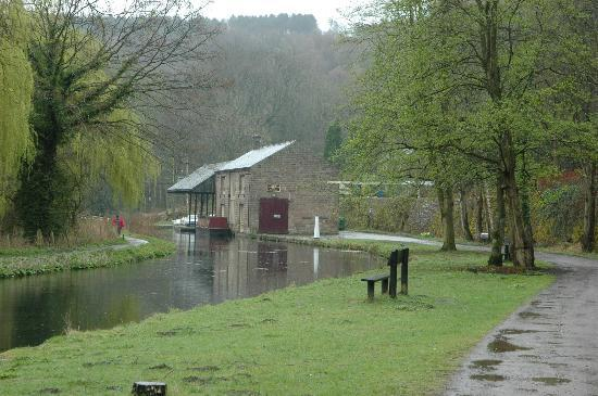 Cromford Canal and the former goods shed