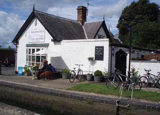 Blossoms Tea Rooms: canal side
