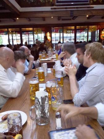 Bierhaus NYC: Communal tables and huge beer mugs