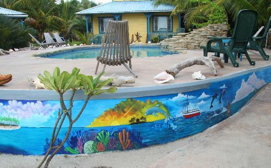 Maya Breeze Inn: Pool and Art