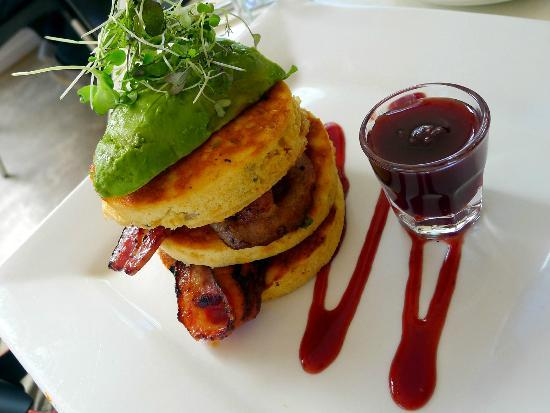 Lime Caffeteria: Corn Fritter Stack