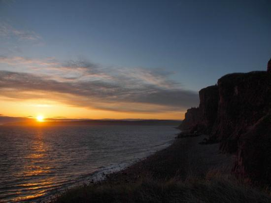 The Lighthouse on Cape d'Or: Sunset over the Bay of Fundy