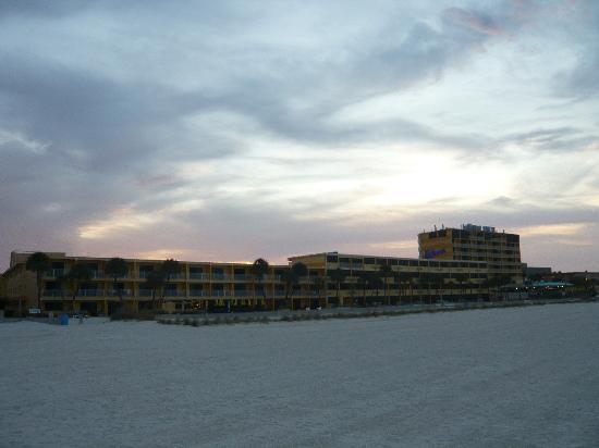 Sunrise behind Bilmar Resort