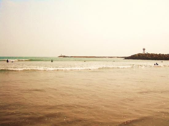 Playa El Borrego : junto al faro