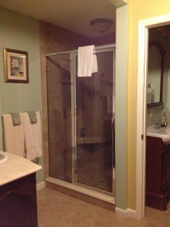 Brookside Mountain Mist Inn: Beautiful tiled shower