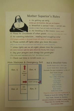 The Old Convent: Old Convent - strict rules of the house !!