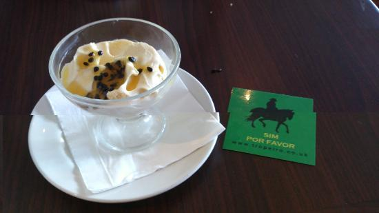 Tropeiro Chester: Passion Fruit mouse and yes please card
