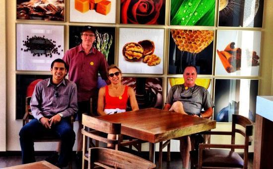 Al Ramirez Wine Tours: Al and Our Grou[ Visitng Casa del Bosque Vineyards