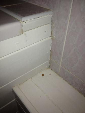 Overstone Park Hotel: and the corners in the bathroom too