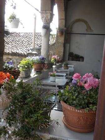 Residenza Farnese: terrazzo fiorito della prima colazione