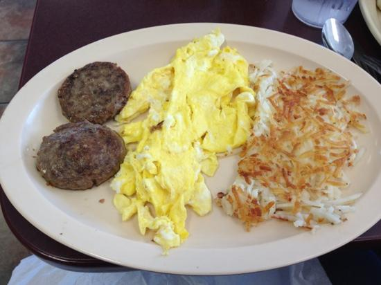 Thomas Restaurant: breakfast special (biscuit/gravy not shown)
