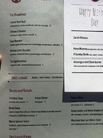Lapellah : brunch menu for Mothers Day