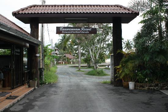Baanrimnam Resort: Ingang van het resort