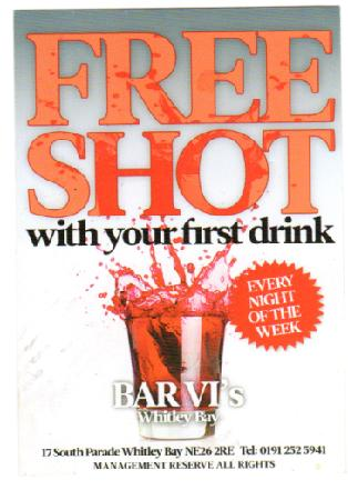 Venture Inn: Free shot with your first drink @ BARVI