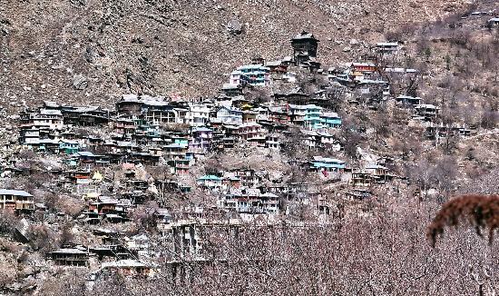 Kamru Fort: Distant Fort-View with Kamru village