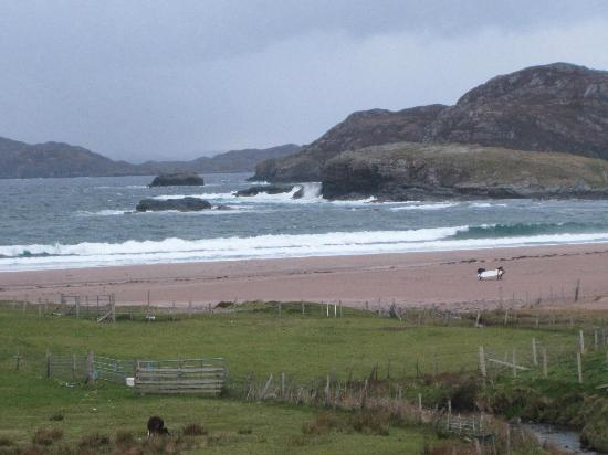 Cruachan Guest House: View of Clannessie beach